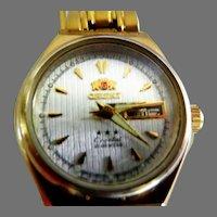 "Vintage ""Orient"" 21 Jewel Automatic Wrist Watch"