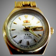 "Vintage ""Orient"" 21 Jewel Automatic Wrist Watch"