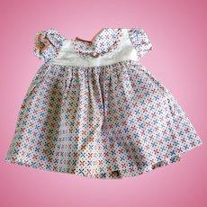 Vintage Cotton Print Compo Doll Dress