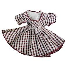 Vintage Satin Doll Dress for Hard Plastic Doll