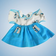 Vintage Cotton Print Compo Doll Dress