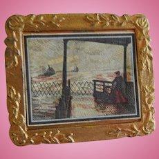 Vintage Doll House Framed Picture.