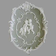 Vintage Jasperware Cameo Plate