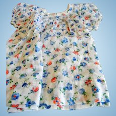 Vintage Cotton Floral Doll Dress