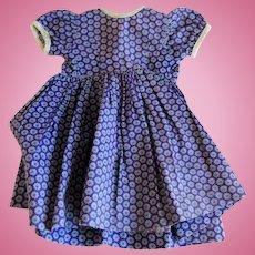 Vintage 40's Cotton Print Doll Dress