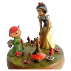 "Vintage  Walt Disney Music Box ""Snow White"" by Anri"