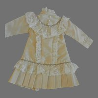 Silk Doll Dress for Small Bisque Doll