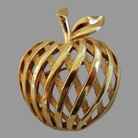 "Vintage ""Trifari"" Apple Brooch"