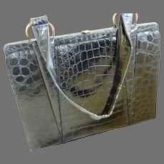 """Vintage Alligator Handbag by """"Deitsch"""""""