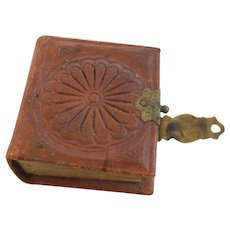 Tiny Antique Leather Daguerreotype Album