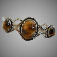Vintage Clamper Bracelet with Stones
