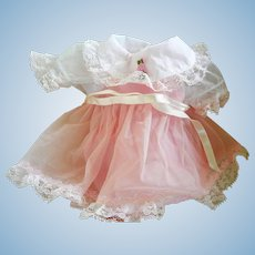 "Vintage Pink Factory Doll Dress with Slip for ""Tiny Tears or DyDee"""
