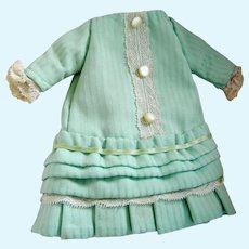 Vintage Handmade Small Bisque Doll Dress