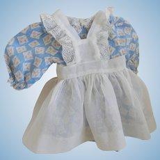 "Vintage Cotton Batiste Doll Dress for 18"" Doll, ""Shirley"", ""Nancy"", F&B"