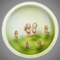 Vintage Rose O'Neill Hand Painted Porcelain Child's Dish