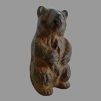 Vintage Cast Iron Standing Bear