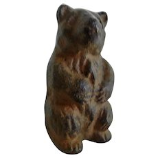 Vintage Cast Iron Standing Bear