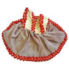 "Vintage Untagged 8"" Doll Dress"