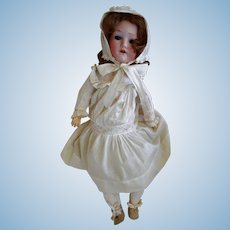 "Antique 19"" Bisque Head Doll by Herman Steiner"