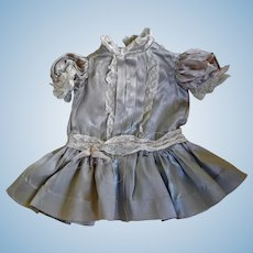 Antique Heavy Satin Doll Dress for 13-15 inch Bisque Head Doll