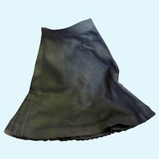 Vintage Black Linen Pleated Back Skirt for 20-22 inch Doll