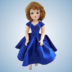 "Beautiful 1950'd Madame Alexander ""Cissy Doll"" in Royal Blue Opera Dress"
