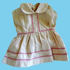 """Vintage Cotton Doll Dress for 15 - 17"""" Hard Plastic or  Compo Doll"""