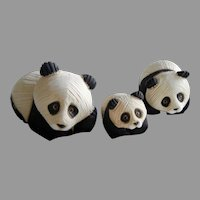 Vintage Rinconada Panda Bear Set