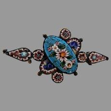 Antique Micro Mosaic Brooch