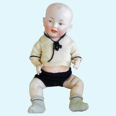 Antique 17 inch Hertel and Schwab Bisque Head Character Baby Mold 151
