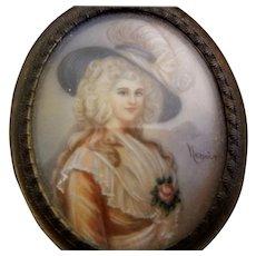 Vintage Celluloid Framed, Signed Portrait