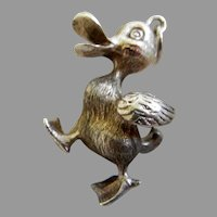 Sterling Silver Duck Pendant or Charm