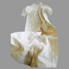 Antique Christening Gown For Bisque Head Baby Doll or Infant