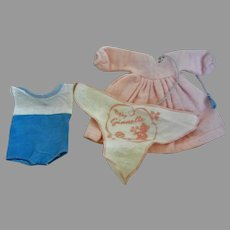 "Vintage Set of 8"" Doll clothes for ""Ginette, Ginny"""