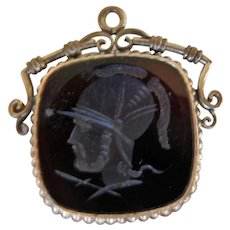 Vintage Watch Fob with Intaglio Cameo