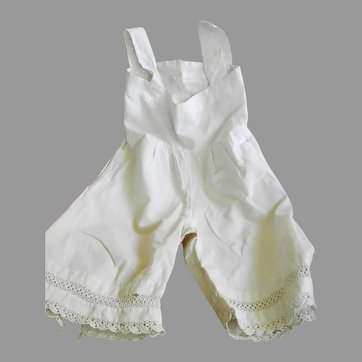Antique Cotton 1 Piece Bloomers and Chemise
