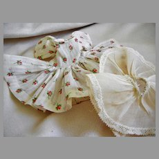 "Vintage Cotton Dimity Floral Dress and Slip for 8"" Doll"