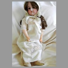 "13"" Bisque Head 23"" Doll By Cuno Otto and Dressel"