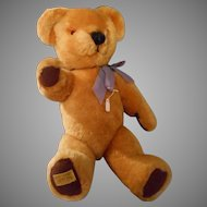 Vintage 15 Inch Gold Mohair Teddy Bear by MerryThought with Growler