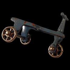 Adorable Vintage Miniature Cast Metal Tri Wheeled Scooter by Kilgore