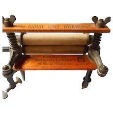 Antique Salesman Sample Miniature Wringer for Washer
