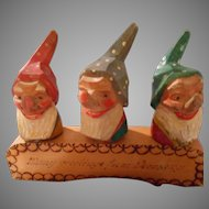 Hand Carved and Painted, Wood Character Bottle Corks