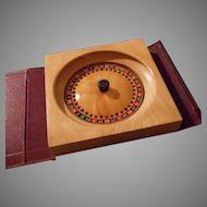 Vintage Leather Bookshelf Game of Roulette
