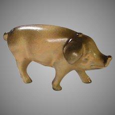 Detailed Cast Metal Pig