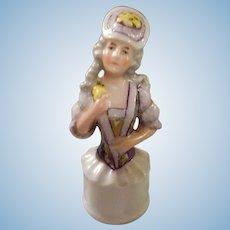 German Bisque Half Doll Handle