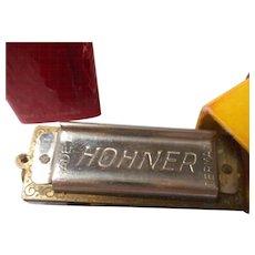 Miniature Hohner Harmonica in Case