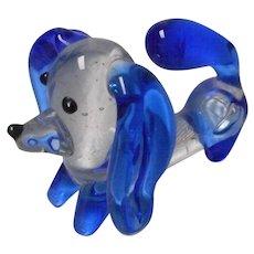 2 Vintage Blown Glass Animals, Daschund and Pig