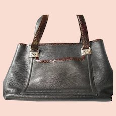 Black and Brown Leather Brighton Handbag