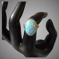 Sterling and Turquoise Colored Stone Ring