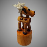Vintage Wooden Push Puppet Germany,